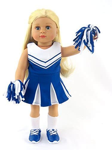 Blue Cheerleader Outfit Cheerleading Uniform with Dress