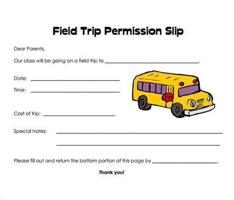 permission slip samples sample templates