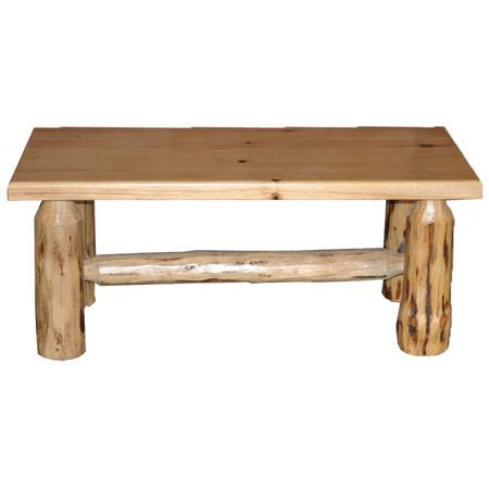Log Furniture Collection Coffee Table   Amish Crafted