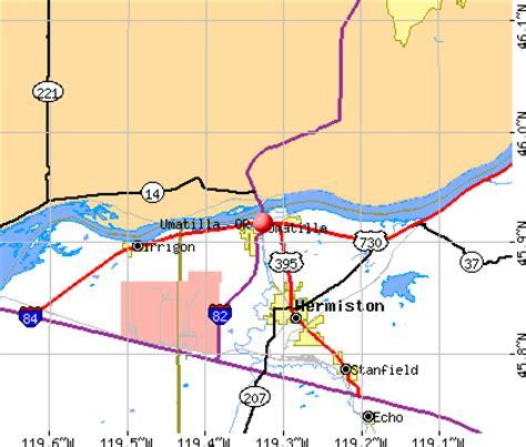 map of umatilla oregon umatilla oregon or 97882 profile population maps