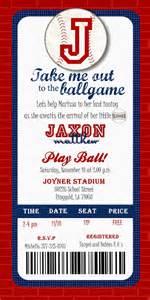 custom printable baseball ticket invitation by joyinvitations