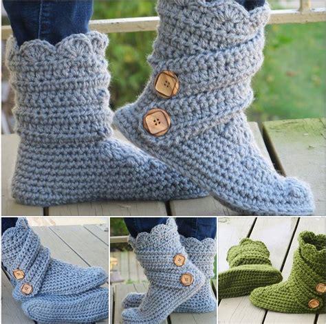 crochet boots diy crochet hollydoll slipper boots