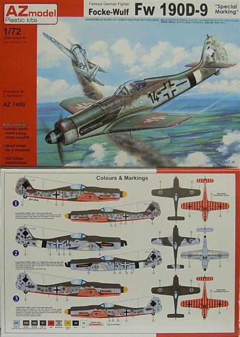 e eh9 c 3 d9 de focke wulf fw 190 d 9 special marking az model 1 72