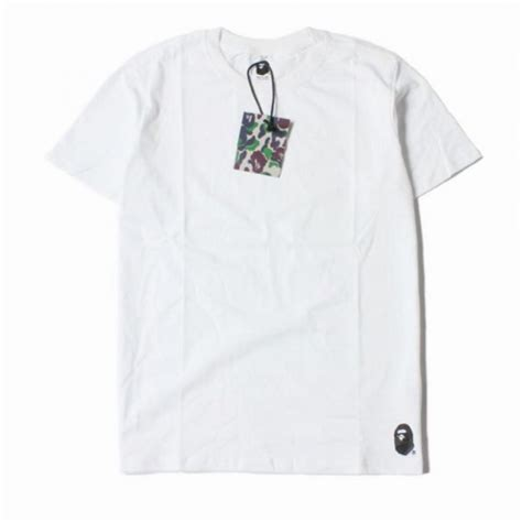 Kaos Tshirt Bape X Undefeated 1 bape quot bottom logo label crewneck quot t shirt white