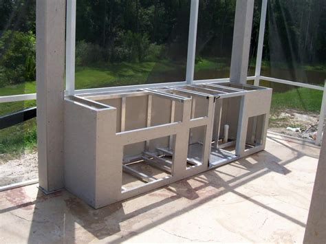 outdoor kitchen frame kits diy  design kitchen world