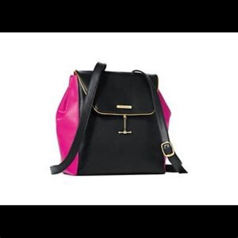 Parfum Posh Black Gold by Couture Black Pink Backpack Never Used Nwot