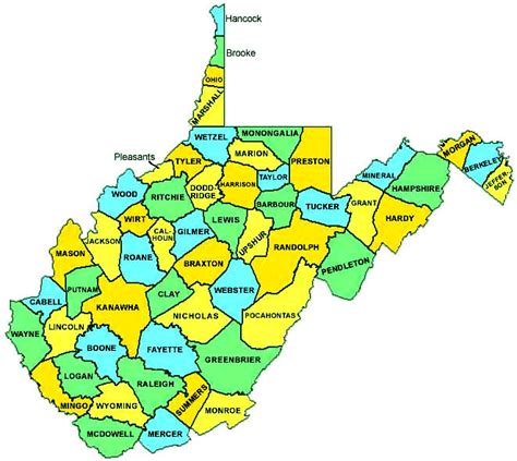 west virginia county map west virginia county map state cities map map of usa states