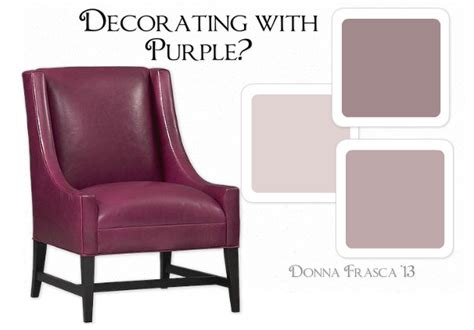 what paint color should i use if i want to go with the purple trend decorating by donna