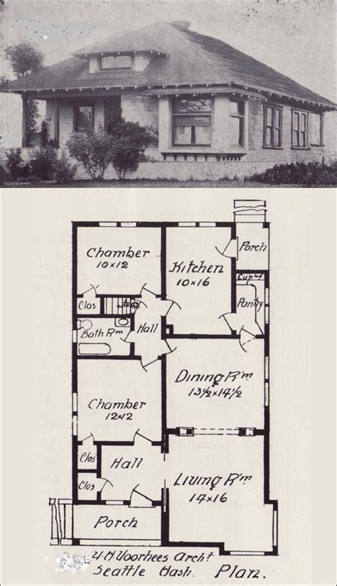 old house blueprints western bungalow blueprint plans free 1908 how to build