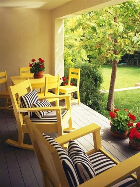 Bright Yellow Chair Design Ideas 22 Beautiful Porch Decorating Ideas For Stylish And Comfortable Outdoor Living In Summer
