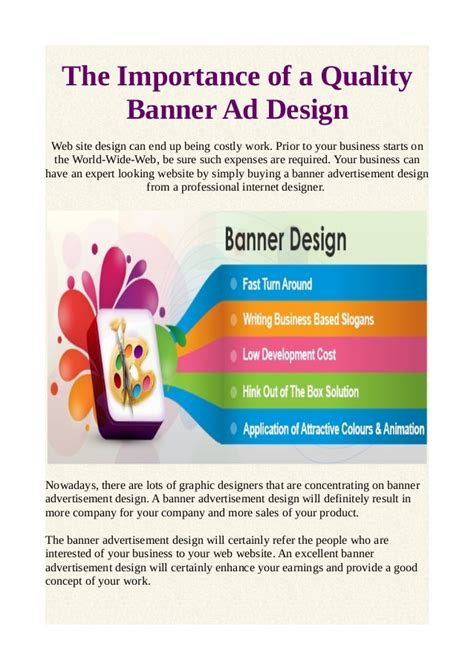 importance of good website header design freelance the importance of a quality banner ad design