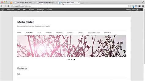 tutorial wordpress header wordpress tutorial insert slideshow into header youtube