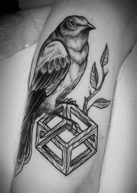 mockingbird tattoo beautiful mockingbird tattoomagz