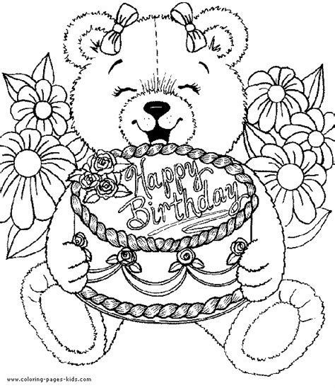 coloring pages for adults birthday happy birthday coloring pages free printable pictures
