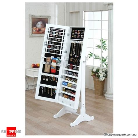 full length mirror jewellery cabinet australia wooden mirrored jewellery full length cabinet white