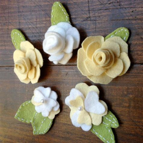 Handmade Woolen Flowers - 17 best images about baby headbands holders on