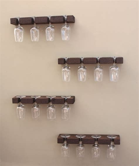 handmade wall mount wine glass rack is made of one solid