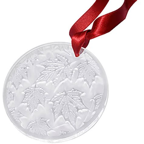 lalique 10491100 christmas ornaments annual 2015 maple leaf