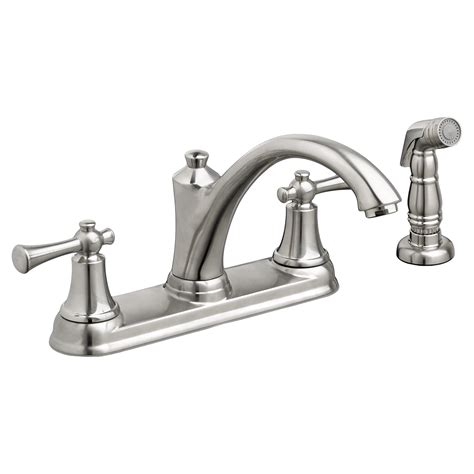 kitchen faucets american standard american standard portsmouth 2 handle kitchen faucet with side spray stainless steel allied