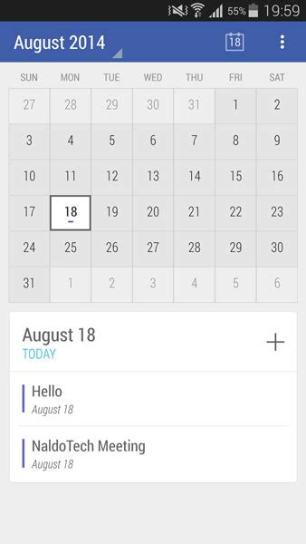 Android L Calendar Calendar App With Material Design Android L Theme