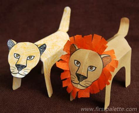 paper crafts animals folding paper zoo animals craft crafts