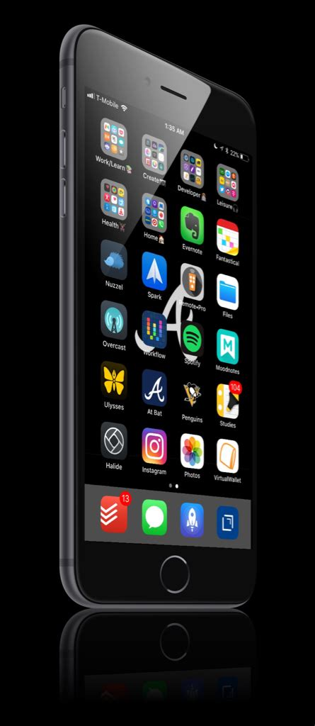 iphone 8 plus show us your new home screen after setup