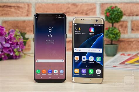 samsung galaxy s8 vs s7 edge phonearena