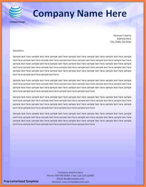 make a letterhead template in word 9 creating a letterhead template in word company letterhead