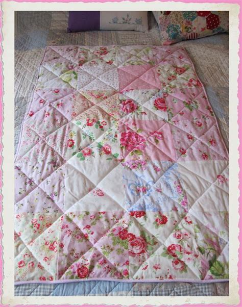 Pink Patchwork Quilts - baby pink patchwork cot quilt with cath kidston