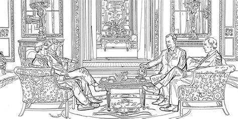 Sherlock Mind Palace Coloring Book