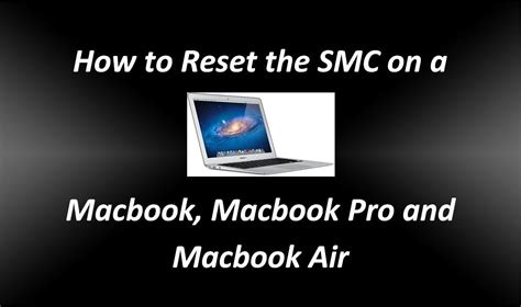 reset the system management controller on your mac how to reset the smc system management controller on a