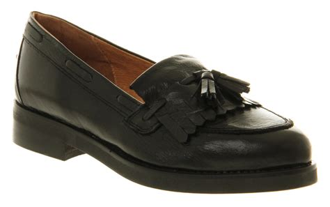 womens black loafers womens office extravaganza loafer black leather flats ebay