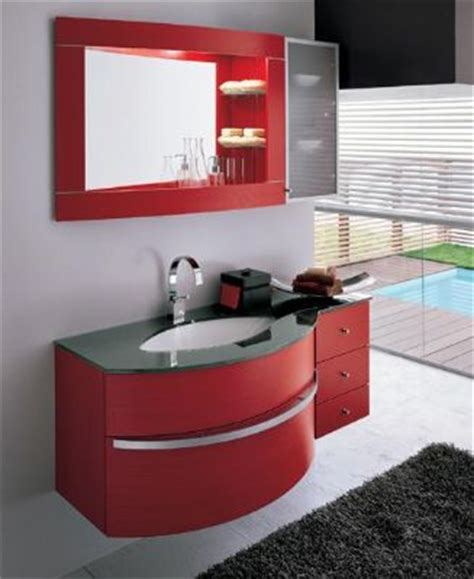 red bathroom cabinets p1311 red color pvc bathroom vanity cabinet from bathroom