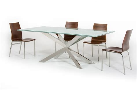 Rectangle Glass Dining Table Xavier Modern Cracked Glass Rectangular Dining Table