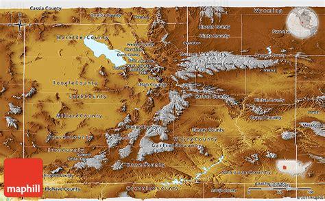 physical panoramic map  utah