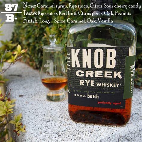 knob creek rye review whiskey drinkwire