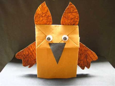 Make A Paper Bag Puppet - how to make paper bag puppets in 5 minutes