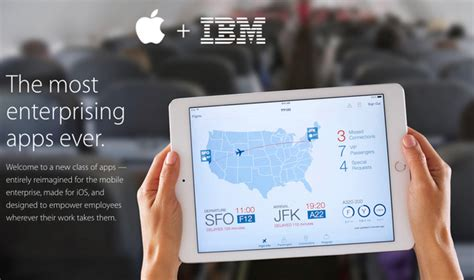 rating the vendors apple ibm apple and ibm kick their partnership with suite of new business apps tuaw apple news