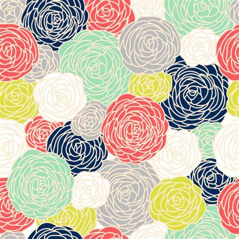 flower pattern modern blossom print fabric by the yard multi