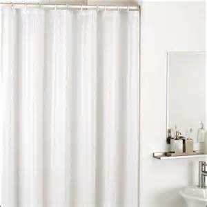 satin stripe shower curtain white