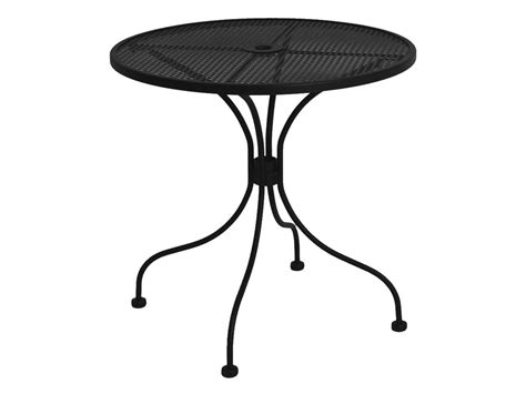 meadowcraft wrought iron 30 round micro mesh bistro table