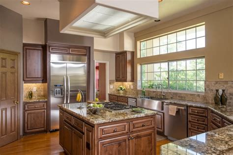 California Kitchen Design | poway california kitchen design fireplace surround