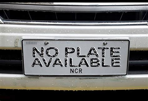 Vanity Tagalog by No Car Plates Until 2nd Quarter Of 2017 Dotr Headlines