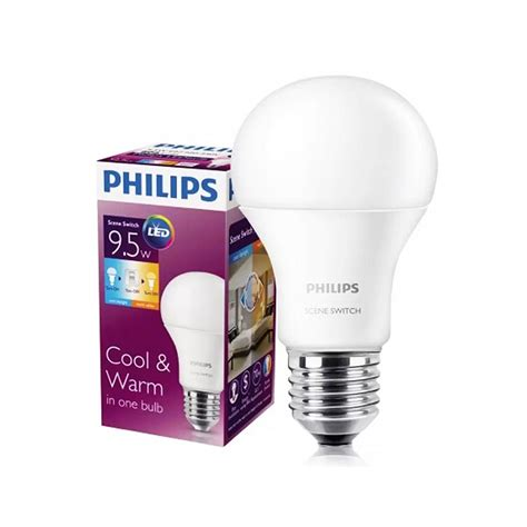 Lu Led Philips Kuning philips switch led bulb 9 5w 1 lu 2 warna