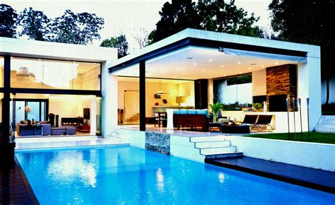 house with pools spectacular modern house with open design and adjacent
