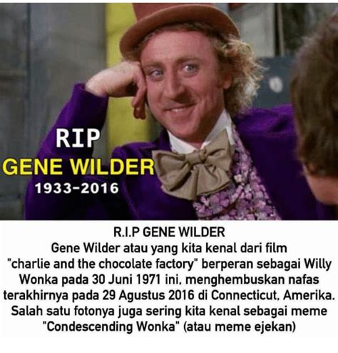Charlie And The Chocolate Factory Meme - funny gene wilder memes of 2017 on sizzle wilders
