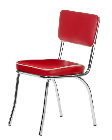 Retro Dining Chairs Cheap Chrome Retro Dining Chair With Vinyl Cushioned Seat And Back Retro Collection Chairs