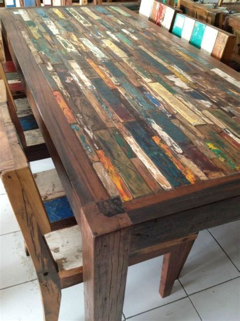 recycled wood dining table amusing recycled dining tables reclaimed wood steel
