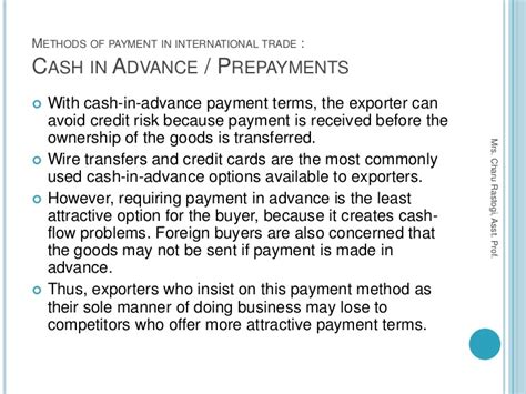Advance Payment Request Letter Project 5 Methods Of Payment In International Trade Export And