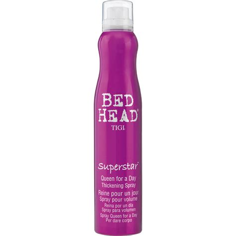 bed header tigi bed head superstar queen for a day thickening spray